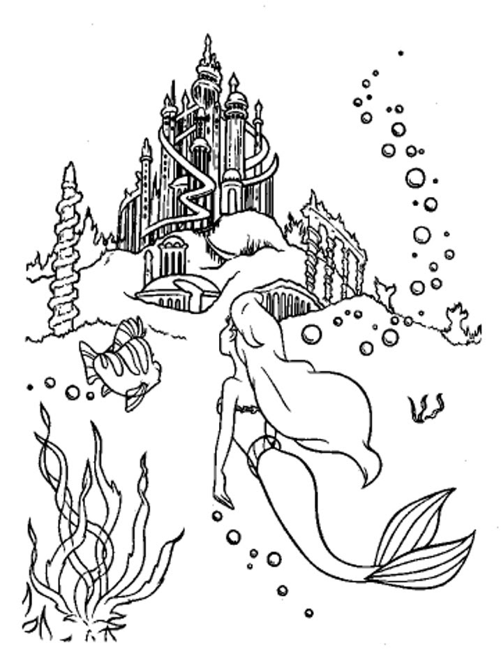 Little Mermaid Coloring Pages | Birthday Printable