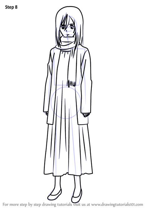 learn   draw young mikasa ackerman  attack
