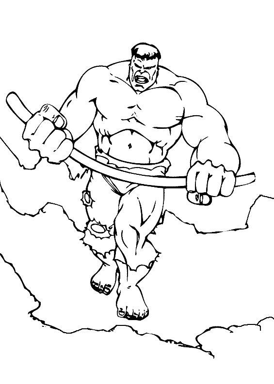 Dibujos Infantiles Para Colorear Hulk Para Desarrollar