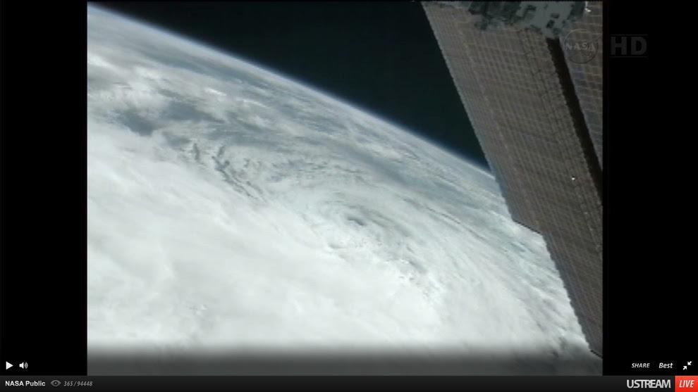 fotos del satelite del huracan sandy