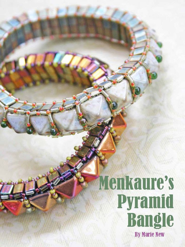 *P Beautiful tila and bead stud 3-dimensional bangle design by Marie New - now in Issue 4 ... click to buy http://www.joomag.com/magazine/digital-beading-magazine-issue-4-june-2013/0863876001371690237
