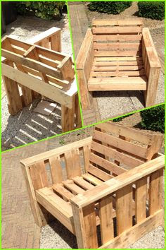 Wooden Pallet Furniture on Pinterest