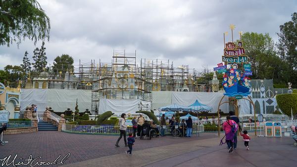 Disneyland Resort, Disneyland, it's a small world, Facade, Refurbishment, Refurbish, Refurb, Tarp, Scaffolding