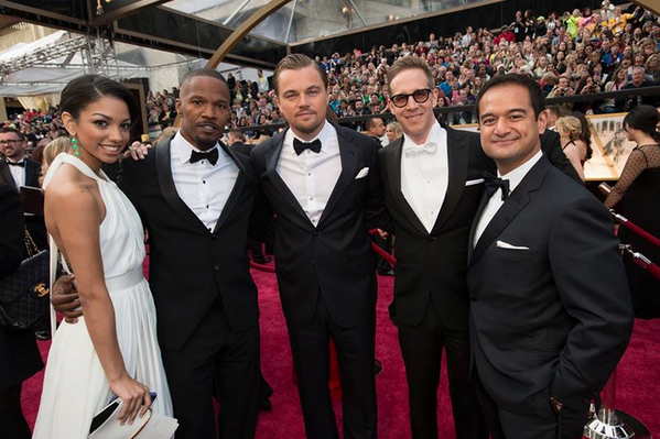 Riza and Joey from Red Granite plus a line up of stars - Leonardo di Caprio and Jamie Foxx