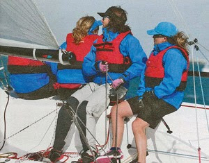 J/70 Junkanoo- Suzy Leech sailing fast upwind off Key West
