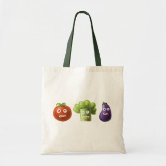 Funny Cartoon Vegetables Tote Bag