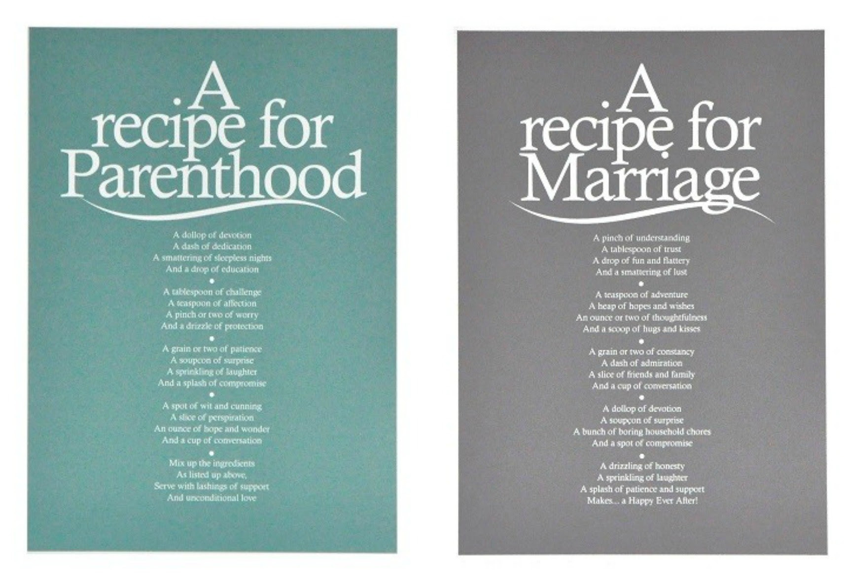 A Recipe For Poem Prints