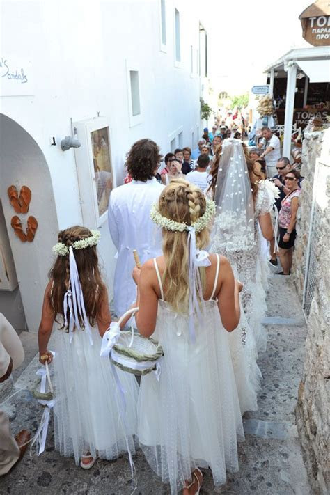 Greek wedding Walking to the Church   Greek Orthodox