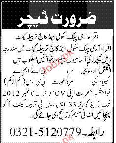Urdu Teacher and Computer Teacher Job Opportunity 2020 Job ...