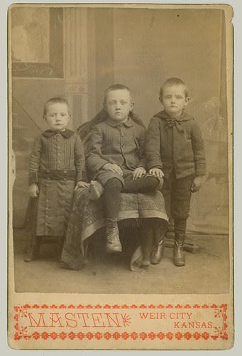 Cabinet Card Three boys