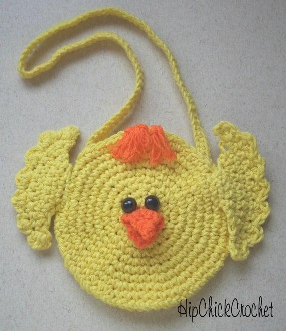 Sweet Lil Easter Chick Purse CROCHET PATTERN