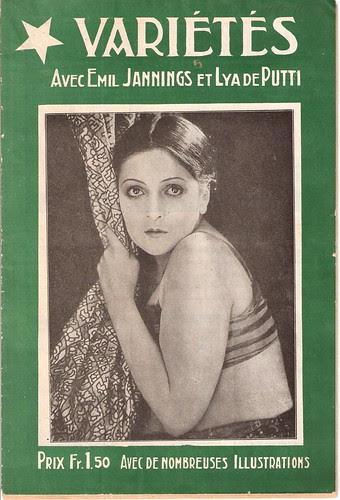 Varieté, cover brochure
