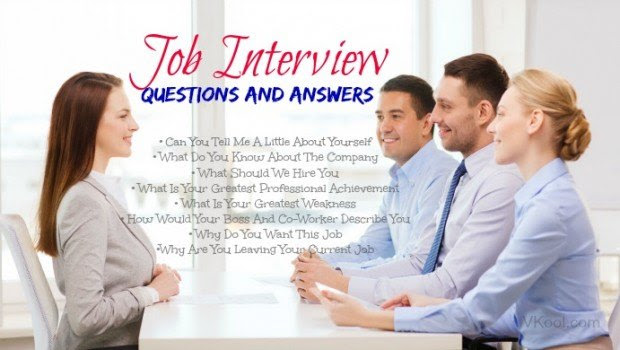 8 Common job interview questions and answers