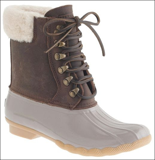 Le Fashion Blog -- Shoe Crush: Sperry Top Sider For JCrew Brown Duck Style Shearling Shearwater Winter Boots -- photo Le-Fashion-Blog-Shoe-Crush-Sperry-Top-Sider-For-JCrew-Brown-Duck-Style-Shearling-Shearwater-Winter-Boots.jpg