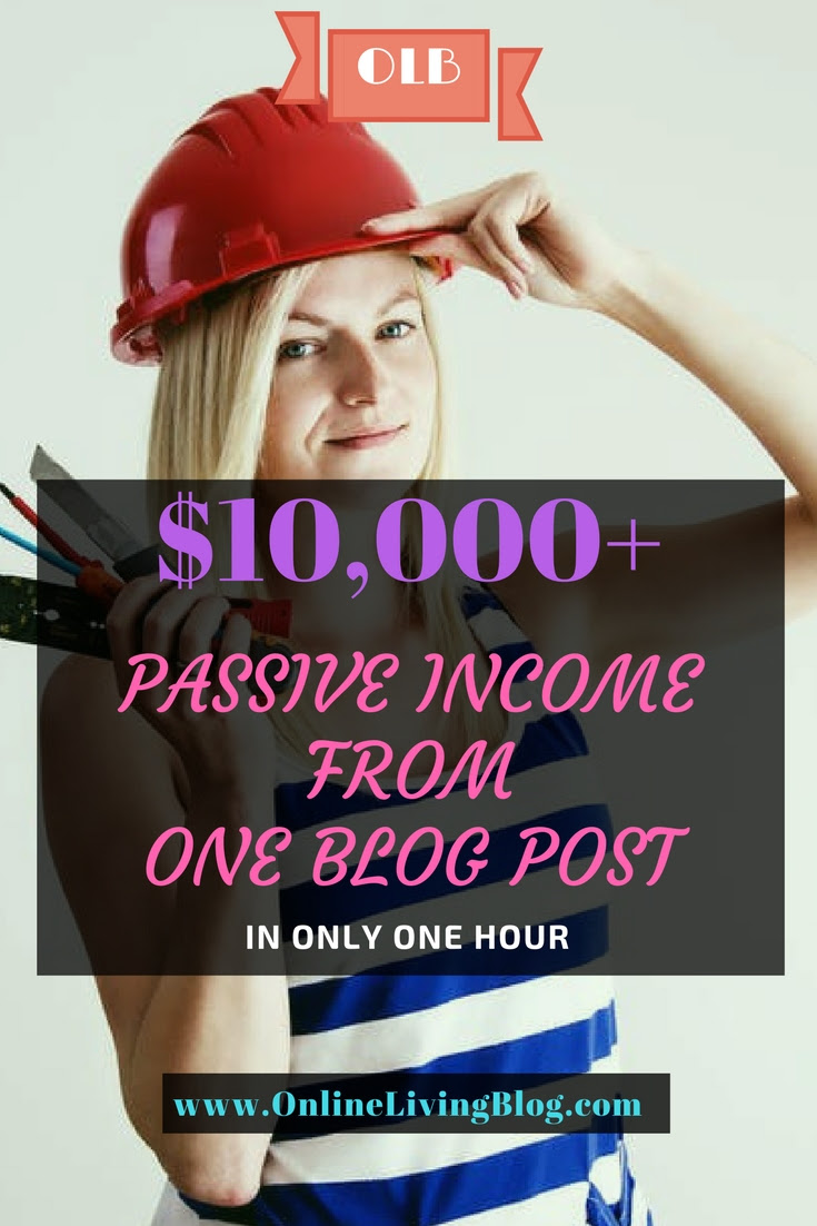 Passive Income From One Blog Post That Took An Hour To Write