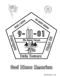 911 coloring page, september 11 printable | School | Pinterest ...