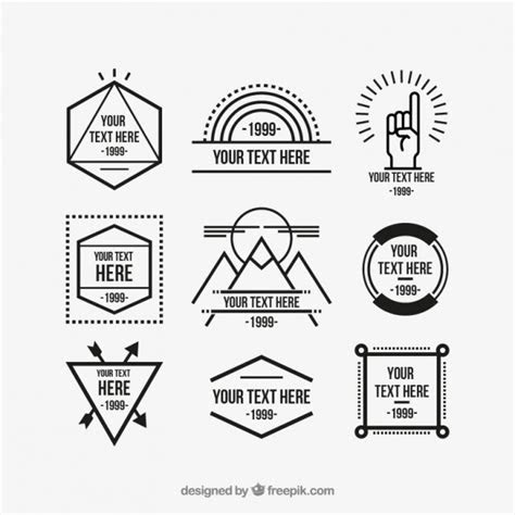vector hipster logo template sets hipsthetic