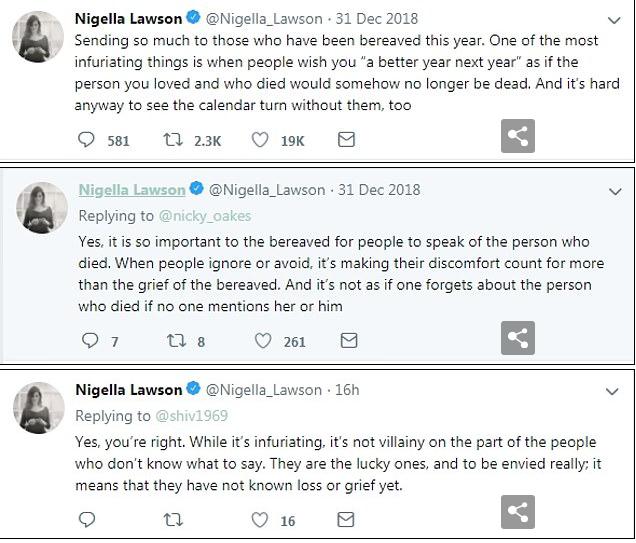 I would like to make a cuppa for… Nigella Lawson