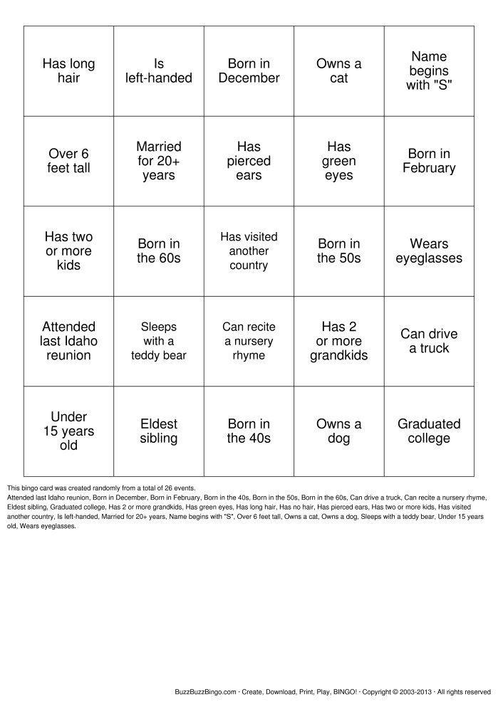 1000+ ideas about Human Bingo on Pinterest | Icebreakers, Ice ...