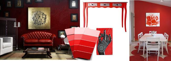 decoracion rojo
