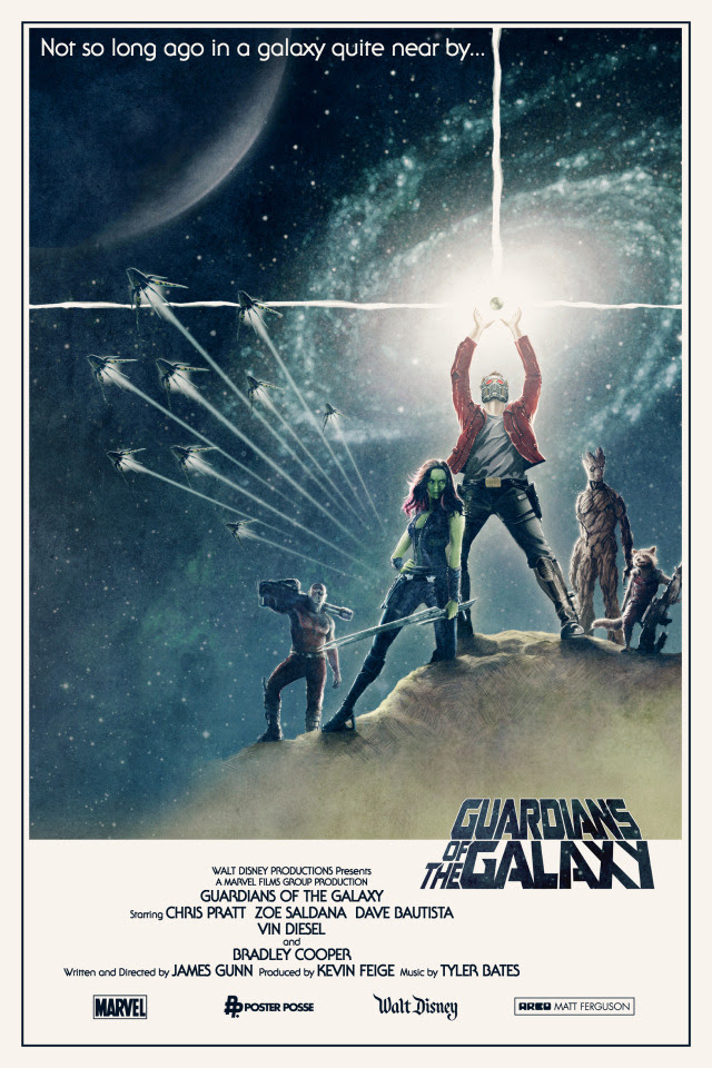 fan-made Guardians of the Galaxy poster - click for more