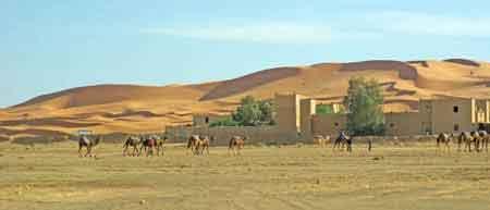 approche des dunes de Merzouga