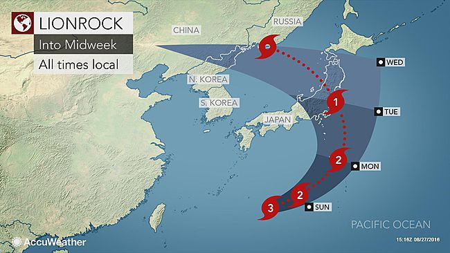 Typhoon 'Lionrock' To Strike Mainland Japan
