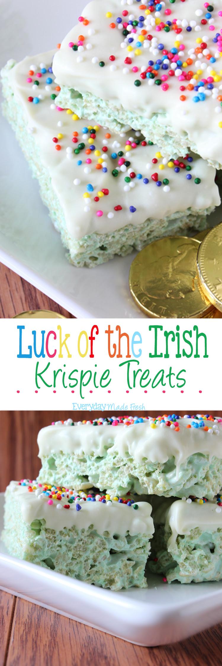 Luck of the Irish Rice Krispie Treats - Oh My Creative