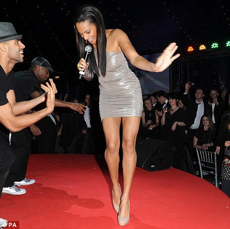 Alesha Dixon in super-short Dress