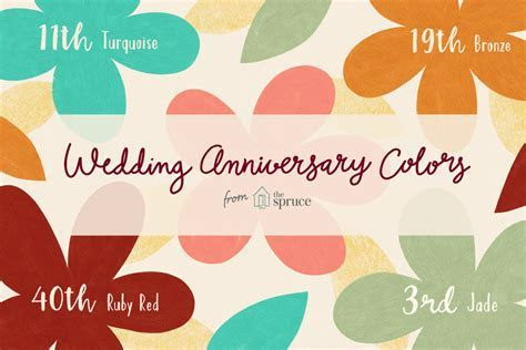 Traditional Wedding Anniversary Colors