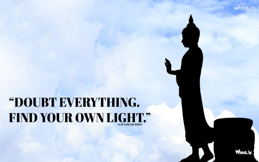 Lord Buddha Statue With Quotes Hd Wallpaper