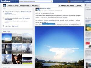 Mensagem foi postada no Facebook nesta terça-feira (Foto: Reprodução / Facebook)