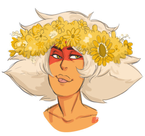 Anonymous said: Skinny Jasper with a flower crown since you drew Jasper with one? Answer: Sure why not :)