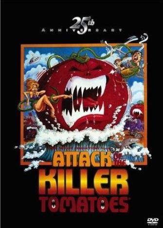 Attack of the Killer Tomatoes! promotional art, via IMDB.com, used w/o permission