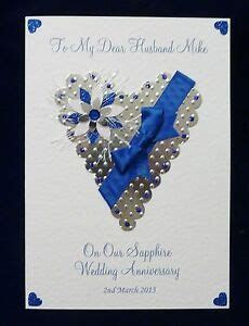 Personalised 45th/65th Sapphire Wedding Anniversary Card