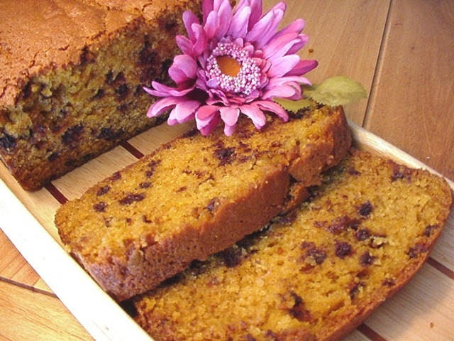 Pumpkin Chocolate Chip Bread - 2 Large Loaves
