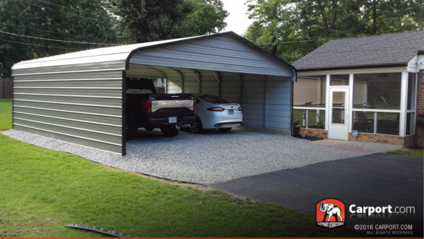 Double Wide Carport 20' x 21' x 8' | Shop Metal Buildings ...