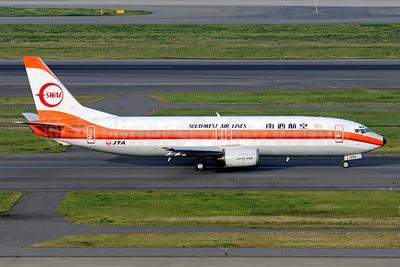 Southwest Air Lines-SAL/JTA (Japan Transocean Air) Boeing 737-446 JA8999 (msn 29864) HND (Akira Uekawa). Image: 912016.