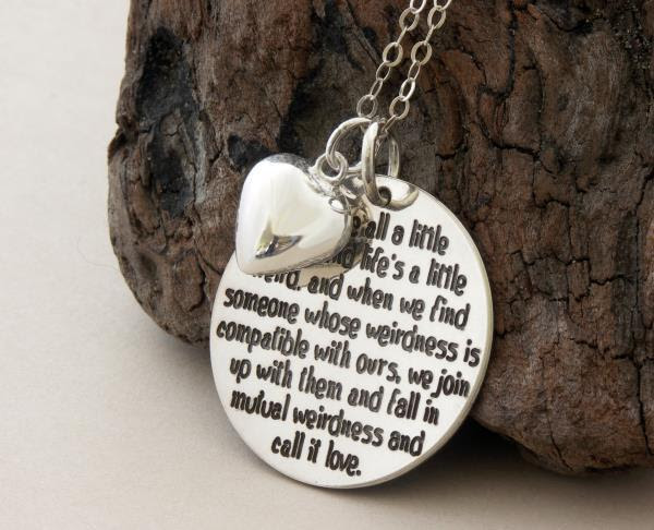 Love Edition We Are All A Little Weird Sterling Silver