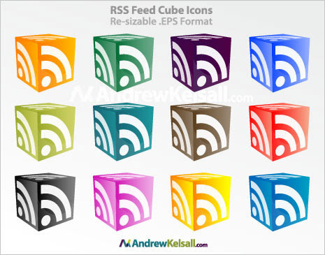 RSS feed cube icon image