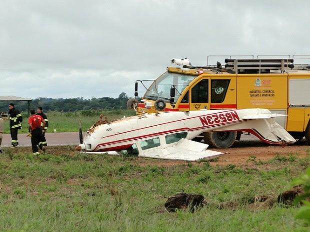 Aeronave tomba em pista de aeroporto de Sinop durante decolagem