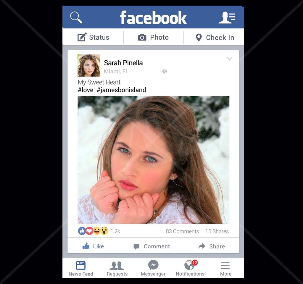Social Media Photo Prop Board Facbook Photo Board Social Media Frame