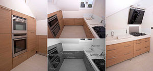 This is a fully equipped compact fitted kitche...