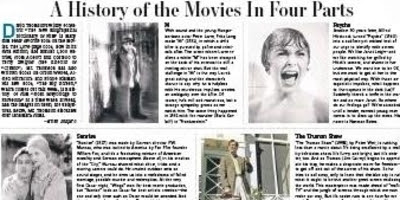 A History Of The Movies In Four Parts