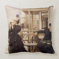 The Captains Daughter throwpillow