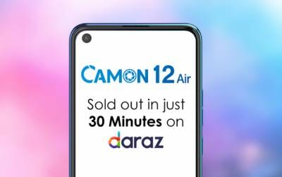 TECNO Camon 12 Air launches on Daraz.pk Sale in 30 minutes, stock out
