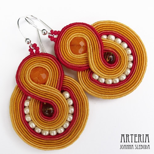 soutache - earrings  mishtiart.blogspot.com - follow me! :)