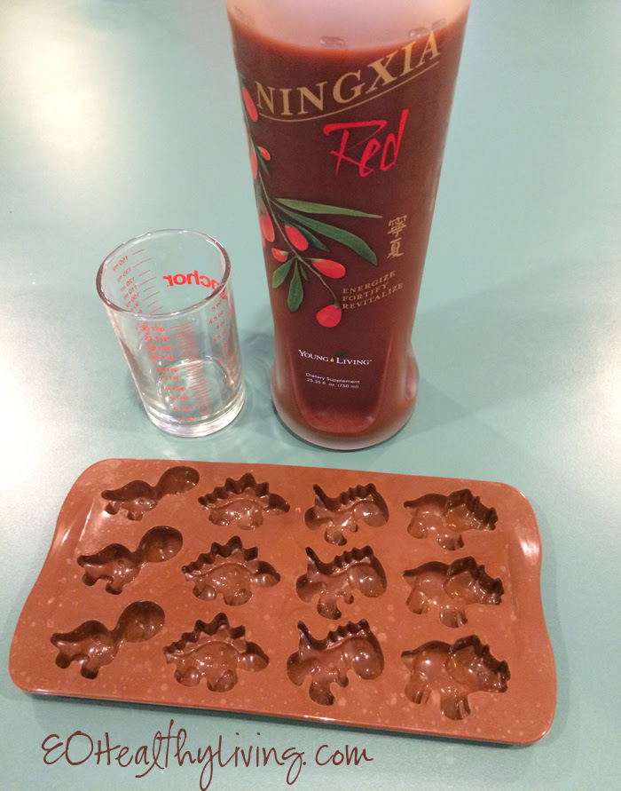 Frozen Ningxia Red Dinosaurs for immune support made with Young Living essential oils supplies
