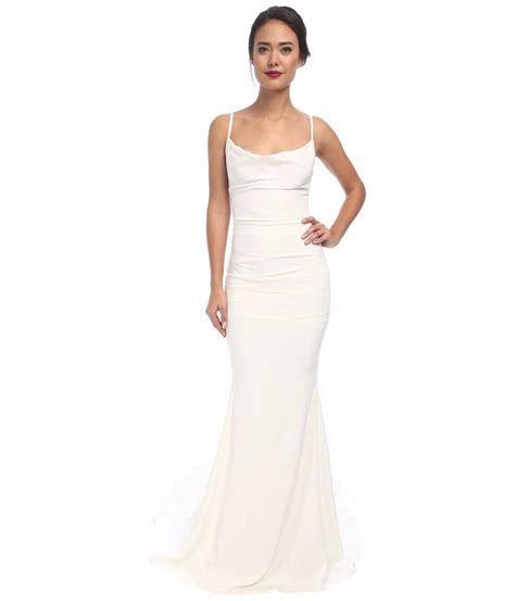 Nicole Miller Hampton Lace Back Antique White Wedding