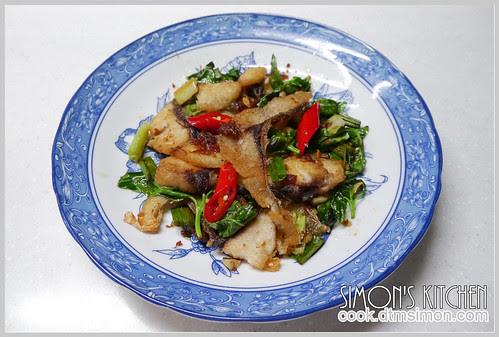 XO醬乾炒草魚片12